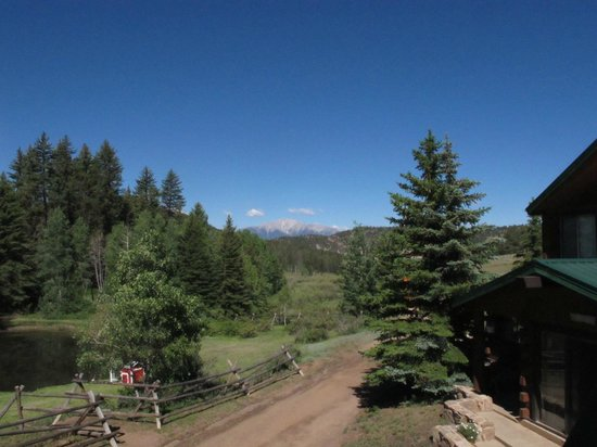 Elk Mountain Ranch: The view of Mount Princeton from our cabin balcony.