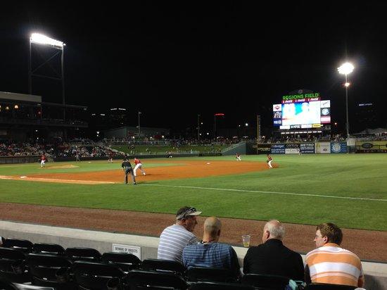 Regions Field : Nighttime view