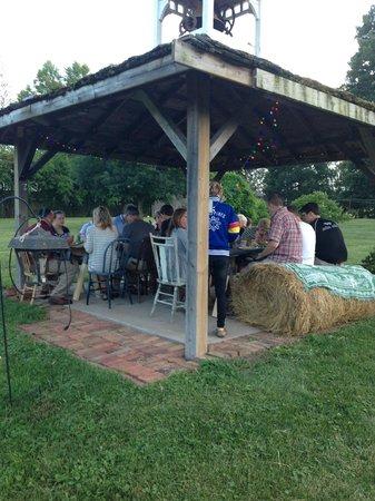 Muscatine, IA: dinner in the gazebo