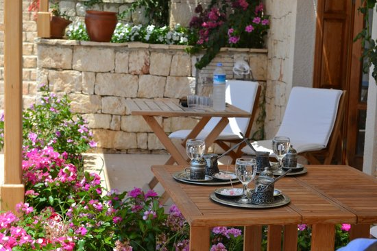 Lycia Hotel: Coffee on our patio