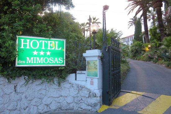 Hotel des Mimosas : Entrée de l'hotel