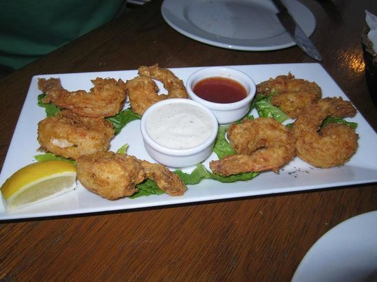 Carribean Grilled Flavors: Tempura shrimp (I asked for the sweet chili dipping sauce) Yum!