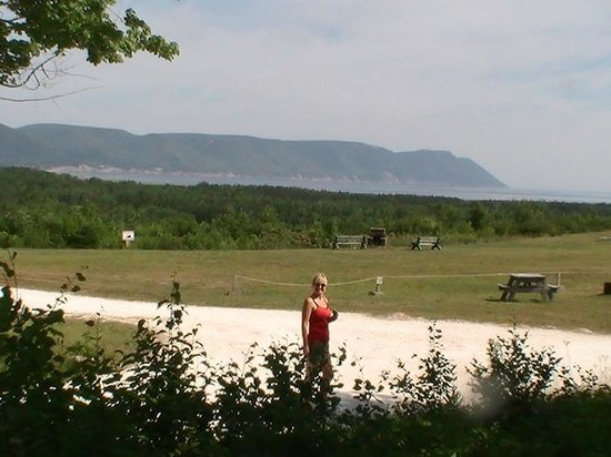 Hideaway Campground & Oyster Market: View from our campsite   E 4