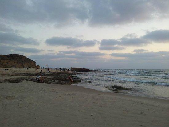 Hof Palmahim National Park: Palmachim beach at sunset