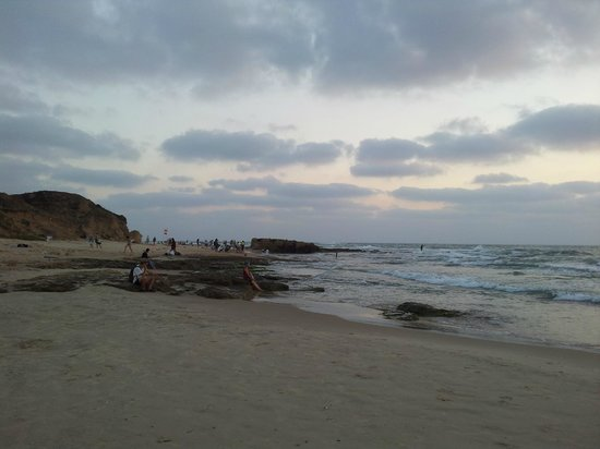 Palmachim beach at sunset
