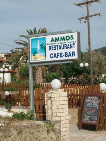 Ammos Seaside in Saint George: JUST SO YOU KNOW WHAT TO LOOK FOR.