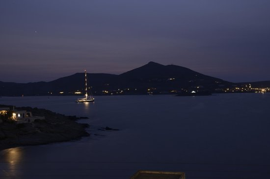 Katerina Mare: View from our terrace after sunset