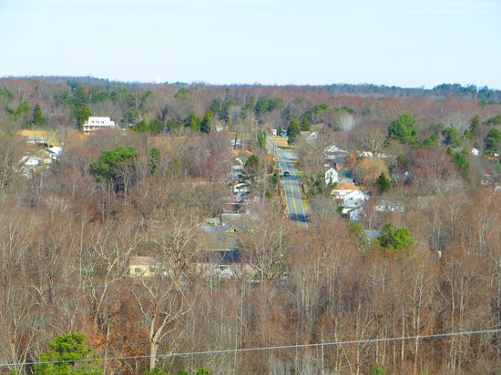 Occoneechee Mountain State Natural Area: View of Hillsborough from the Summit
