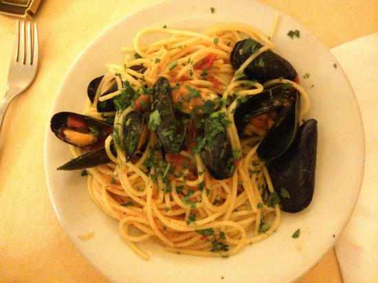Hotel Villa Franca: Spaghetti con Cozze