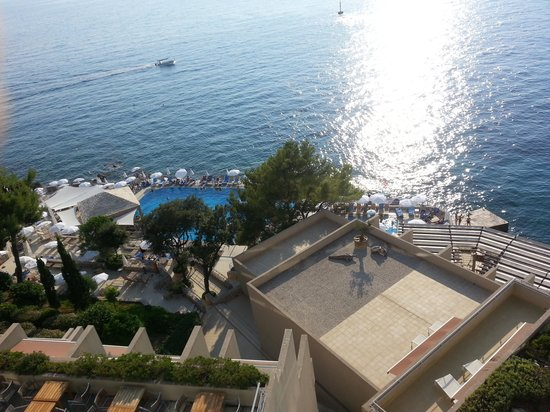 View From The Top Looking Over The Pool Picture Of Hotel Dubrovnik Palace Dubrovnik Tripadvisor