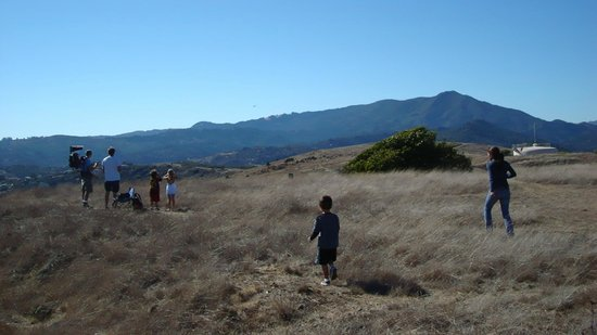 Ring Mountain Open Space Preserve: waiting for the blue angels on ring mountain