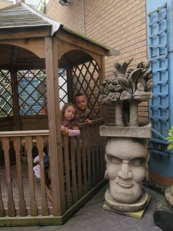 The Potteries Museum and Art Gallery: outside in the secret garden