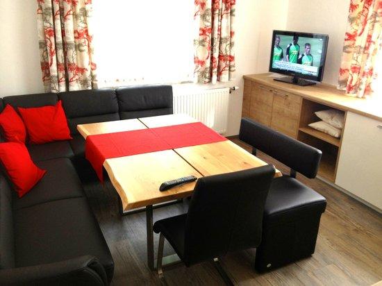 Haus Kathrin: Kitchen & sitting room - plenty of seats