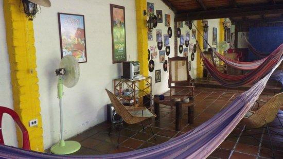 Iguana Hostel: Espace détente