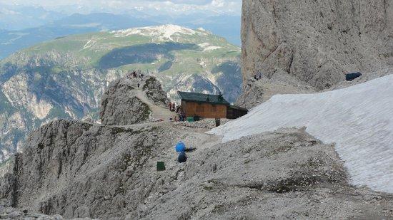 Gruppo Dolomitico Sciliar-Catinaccio, Latemar - UNESCO : View at Rifugio Passo Santner