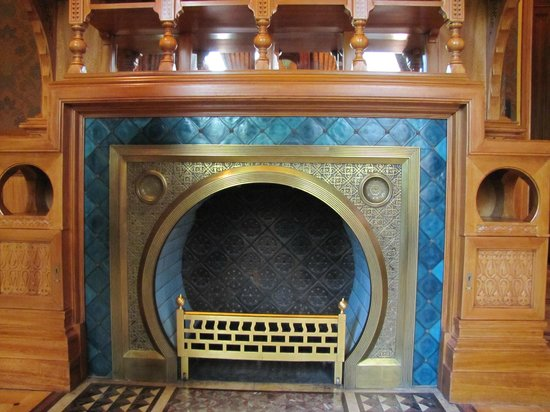 Richard H. Driehaus Museum : More terrific tile around this unusual fireplace