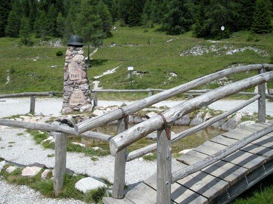 """Sorgenti del Piave: """"pozza di sorgente"""""""
