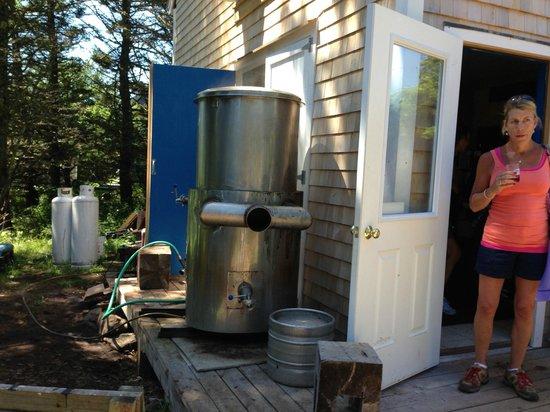 Monhegan Brewing Company: Boil kettle