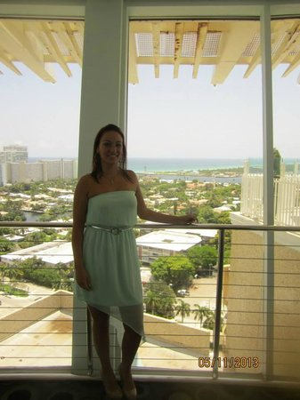 Fort Lauderdale Beach : view from inside the room