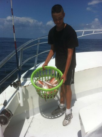 A good catch for my son picture of destin princess party for Party boat fishing destin fl