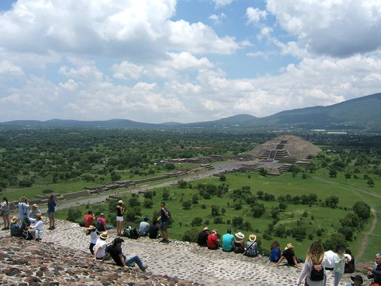 Zona Arqueologica Teotihuacan: From the top of the Pyramid of the Sun