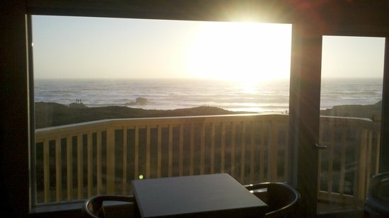 Ocean View Lodge: View from our room, HEAVEN :-)