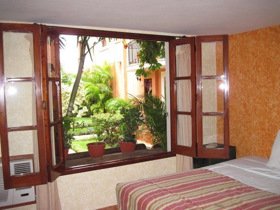 Hacienda San Miguel Hotel & Suites: Out the window