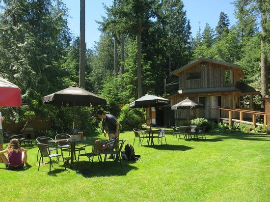 Savary Island, Canadá: Beer garden behind Riggers Pub