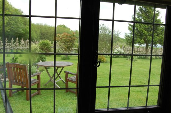 Hononton Cottage Bed & Breakfast: Looking out from Willowpit towards back gardens
