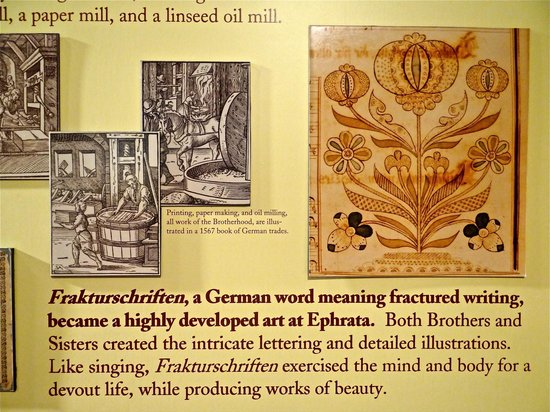 Ephrata Cloister : Explanation of decorative lettering done at the Cloister