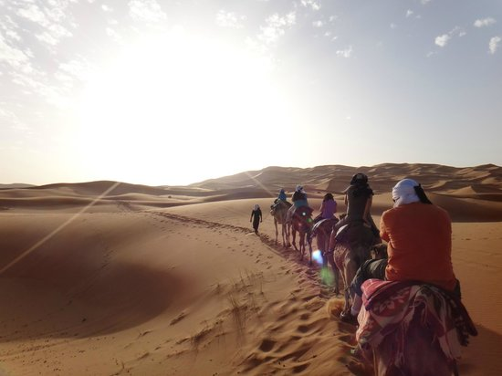 Authentic Morocco - Day Tours: On our way back from camping in the desert, Erg Chebbi