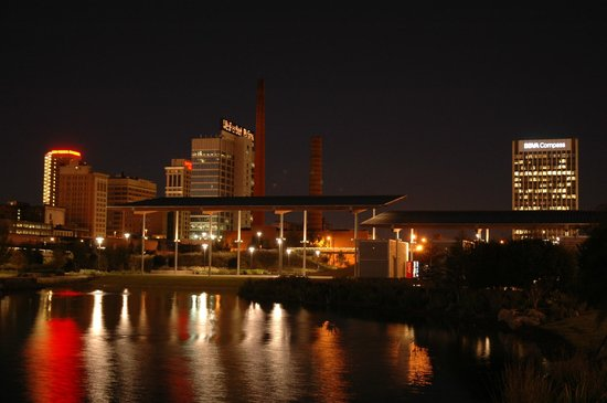 Birmingham's Railroad Park: Birmingham Skyline from Railroad Park