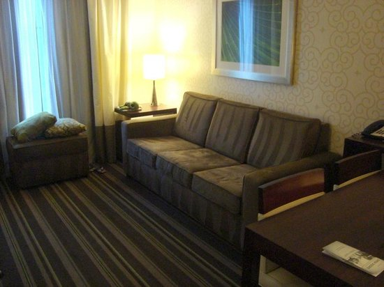 Embassy Suites by Hilton Savannah Airport: The sleeper sofa living area