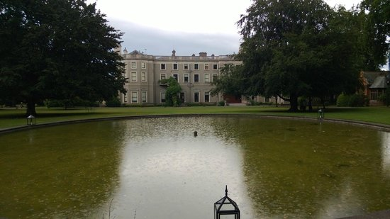 Farmleigh House and Estate : Rear of Farmleigh house by the lake