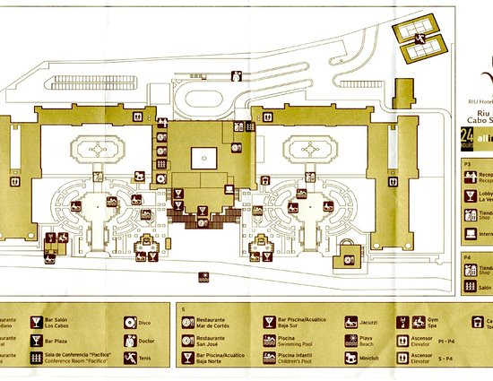 map of the hotel - Picture of Hotel Riu Palace Cabo San Lucas, Cabo Cabo Resorts Map on