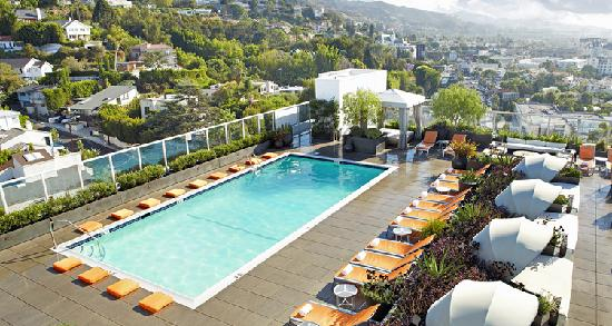 West Hollywood, CA: Andaz Rooftop Pool