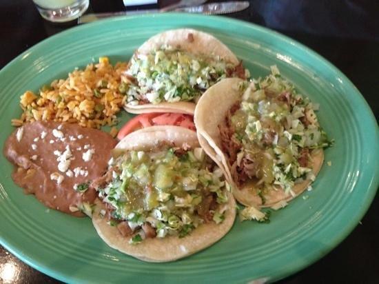 La Palapa: Shredded Pork Tacos - delicious!