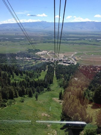 Jackson Hole Aerial Tram: view of the village from the tram