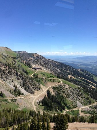 Jackson Hole Aerial Tram: view from the Tram