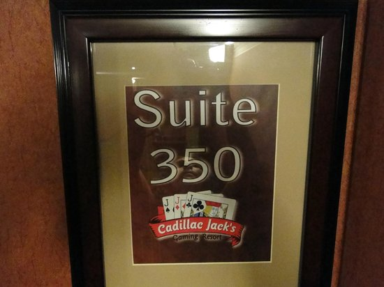 Cadillac Jacks Gaming Resort: Suite upgrade