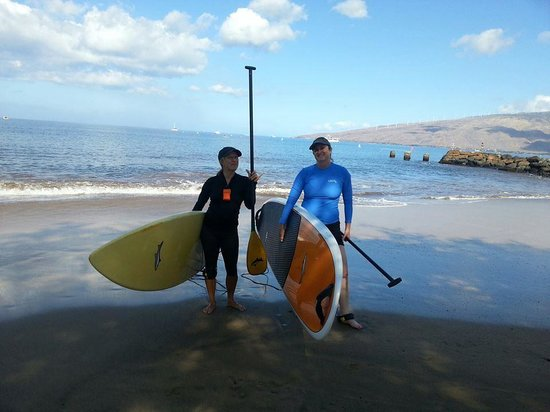 Maria Souza's Stand Up Paddle School: Maria and I post paddle