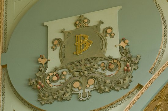 Prairie School Bank : Cartouche (one of 8) honors the Bennett Family