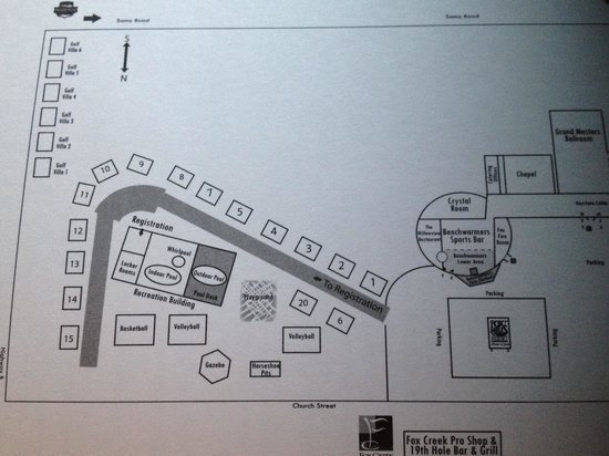 Fox Hills Resort: Map of buildings
