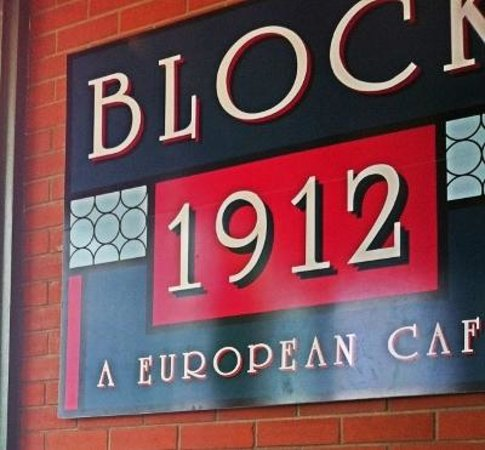 Block 1912 : sign above my chair