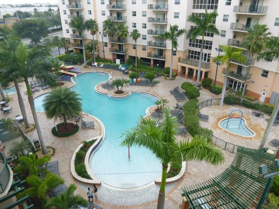 Wyndham Palm-Aire: View of one of the pools from the balcony