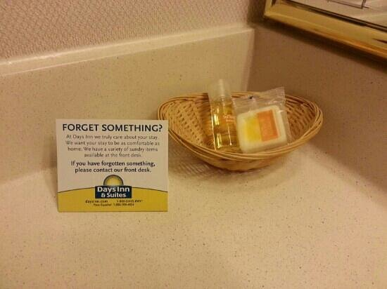 Days Inn & Suites Red Rock-Gallup: only 1small bar of soap & shampoo
