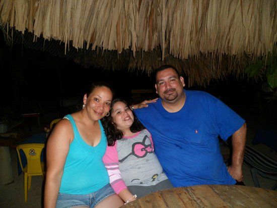 Ronny's Barefeet Restaurant & Bar: My best bud and his Family at Ronny's Barefeet