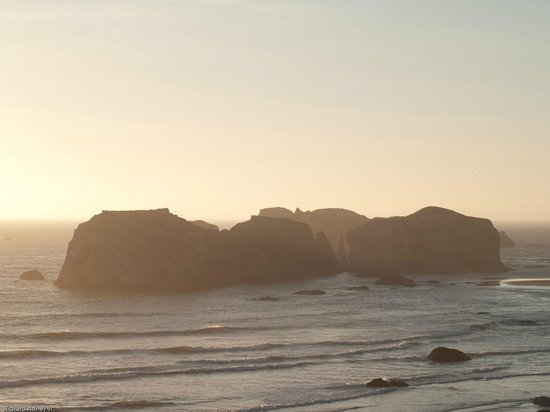 Sunset Oceanfront Lodging : Coquille Point view from our room, #363