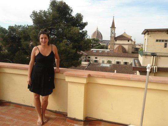 Albergo Hotel Panorama Firenze: Vista desde el hotel, se primero iglesia de san marco y al fondo la cupula del duomo
