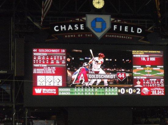 Chase Field: Game Clock Big Screen